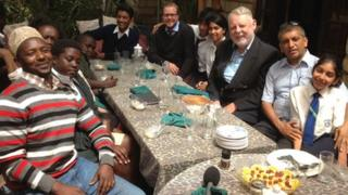 Terry Waite, third from right, at the Nairobi meeting
