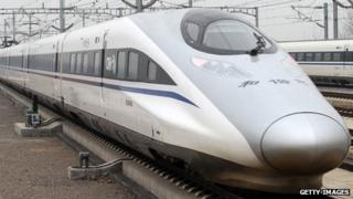 A Chinese high-speed train