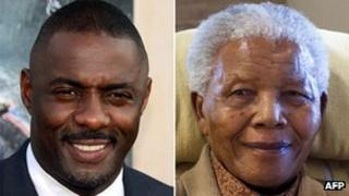 Idris Elba and Nelson Mandela