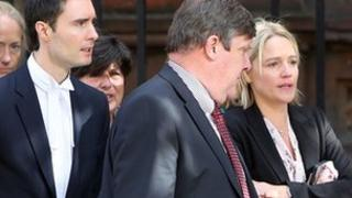 Samantha Bennett leaves court with family and legal representatives