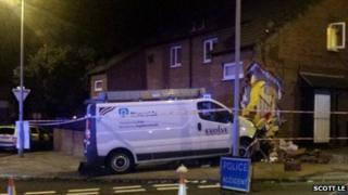 The van at the house on Church Road