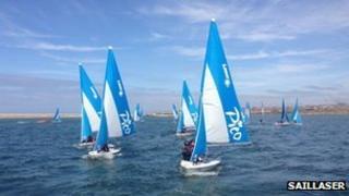 SailLaser sailing at the Weymouth and Portland National Sailing Academy
