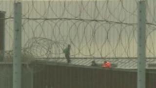 Prisoners on roof