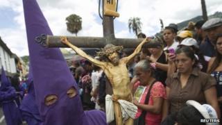 Catholic procession in Quito