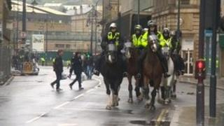 The EDL demo in Bradford on Saturday
