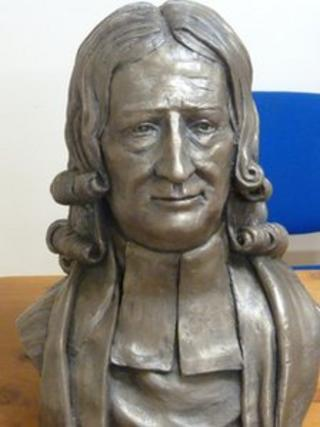 John Wesley bust