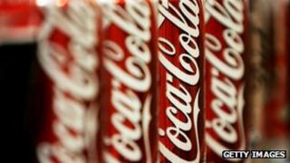 A picture of Coca-Cola cans