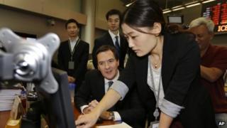 George Osborne visiting ICBC