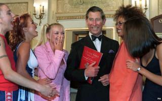 Prince Charles meets the Spice Girls in 1997