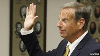 Former San Diego mayor Bob Filner appeared in a California court on 15 October 2013