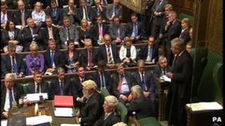 Speaker John Bercow chairing proceedings in the Commons