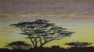 African sunset from HMP Northumberland
