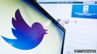 A picture of the Twitter logo