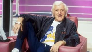 Jimmy Savile pictured in a special Christmas edition of Jim'll Fix It in 1992