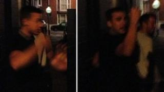 Composite of three suspects in Lewes assault