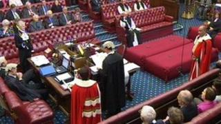 New peers swearing the oath