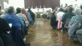 Council meeting at Patchway College