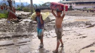 Aftermath of Typhoon Bopha in the Compostela Valley