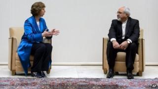 Catherine Ashton and Mohammad Javad Zarif (15/10/13)