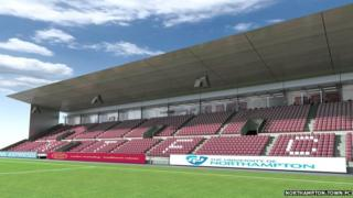 Northampton Town FC's new east stand