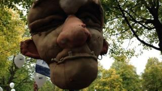 Effigy of Michael Gove