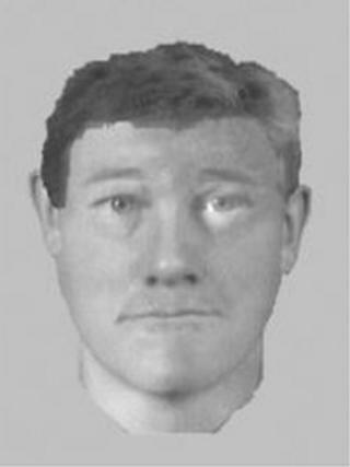 An image of the suspect as he may appear 19 years on from the attack