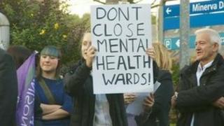 Protesters in Bolton