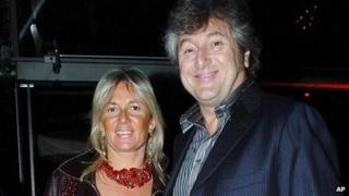 Vittorio Missoni and wife
