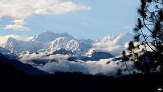 Kanchenjunga massif