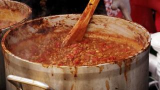 casserole dish full of stew
