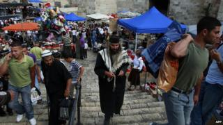 Scene outside Damascus Gate, Jerusalem (file photo)