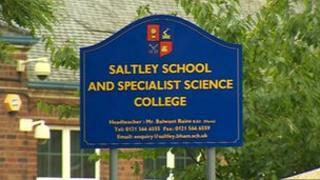 Saltley School sign