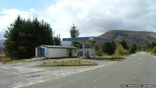 Closed filling station in Achnasheen