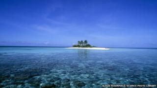 The island of Dunikolu in the Maldives