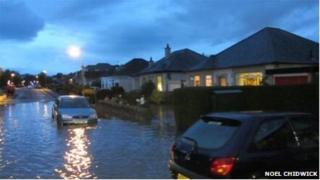 Flood in Edinburgh