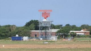 Guernsey Airport new radar tower