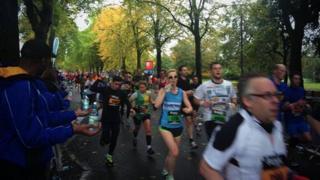 Runners take part in Great Birmingham Run