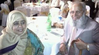 Stab death victim Mohammed Saleem with his wife Said Begum