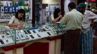 A mobile phone shop