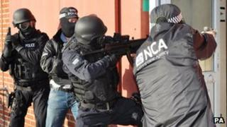 NCA officers on training exercise