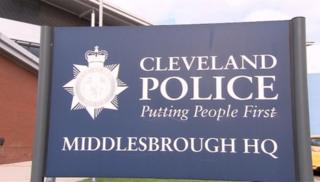 Cleveland police HQ sign