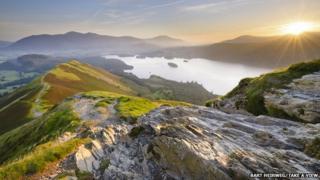 Catbells sunrise, Cumbria, by Bart Heirweg