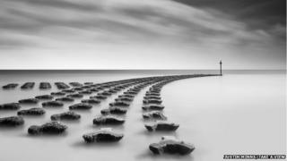 Sea defences, Felixstowe, Suffolk, by Justin Minns