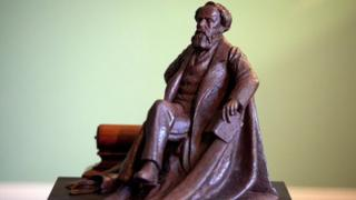 A bronze maquette of the Charles Dickens statue