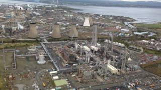 Grangemouth from air