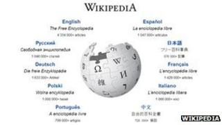Wikipedia home page
