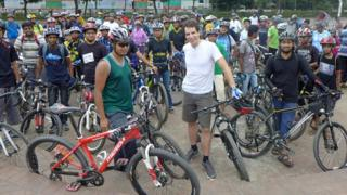 Mark and members of BDcyclists