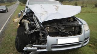 VW Touareg involved in fatal collision with pony