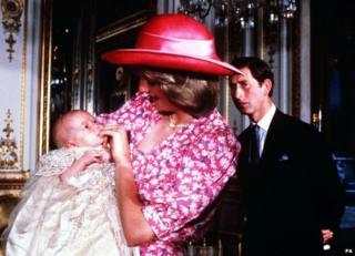 Prince William's christening