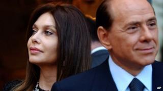 Silvio Berlusconi and Veronica Lario pictured in 2004